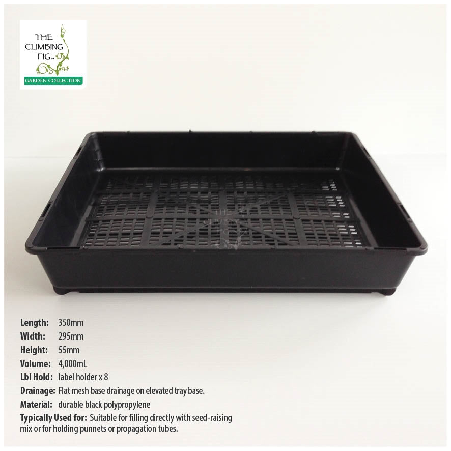 FLAT MESH Seedling Trays. Fits propagation punnets, tubes, pots & jiffy pellets