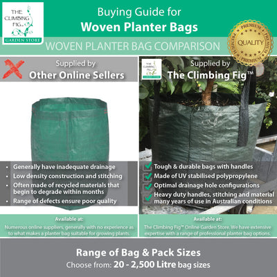 Woven planter bags quality comparison