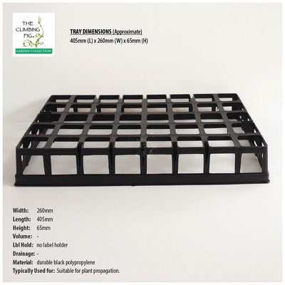 40-Cell Air Pruning Plastic Trays with 40mm Square BLACK Tube Pots Option