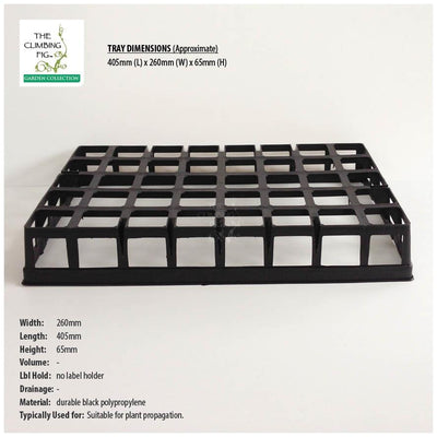 40-Cell Air Pruning Tray with 40mm Square Clear Plastic Tube Pots