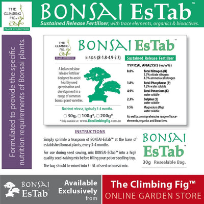 Bonsai EsTab Controlled Release Fertiliser. Ideal for bonsai, seedlings & plants