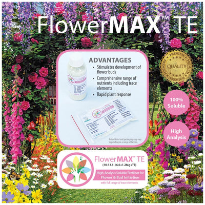 FlowerMAX TE Soluble Fertiliser. High-Analysis to boost bud and flower formation