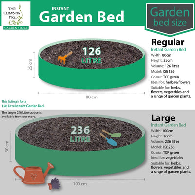 Instant Raised Garden Bed REGULAR 80cm, 126 Litres. For flowers herbs vegetables