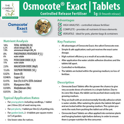 Osmocote Exact 8-9 Month Controlled Slow Release Fertiliser Tablets. For pots