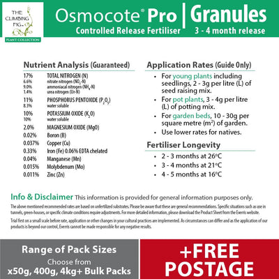 Osmocote Pro 3-4 Month Controlled Slow Release High-Analysis Fertiliser