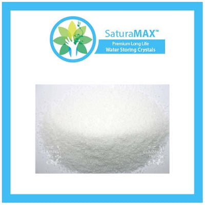 SaturaMAX Water Holding Crystals / Granules. Moisture retention for plants, turf