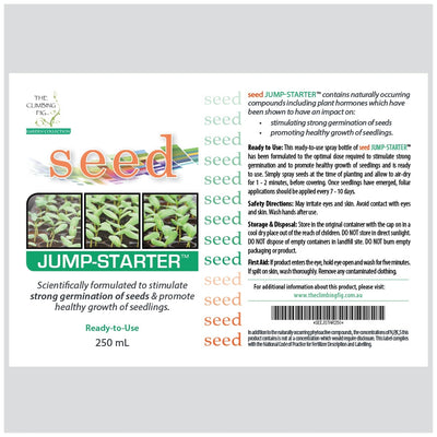 SEED Jump-Starter Bottle Liquid Fertiliser. To stimulate strong germination