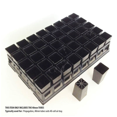 40mm Square BLACK Plastic Tube Pots. Seeds, seedlings, cuttings & propagation