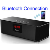 Boytone Bt-87cr Portable Fm Radio Alarm Clock, Wireless Bluetooth 4.1 Speaker, Built