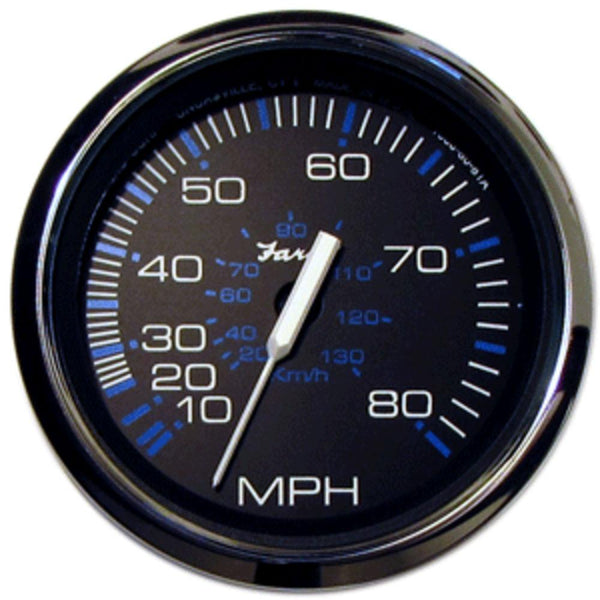 Faria Chesapeake Black Ss 4 Speedometer - 80mph (mechanical)