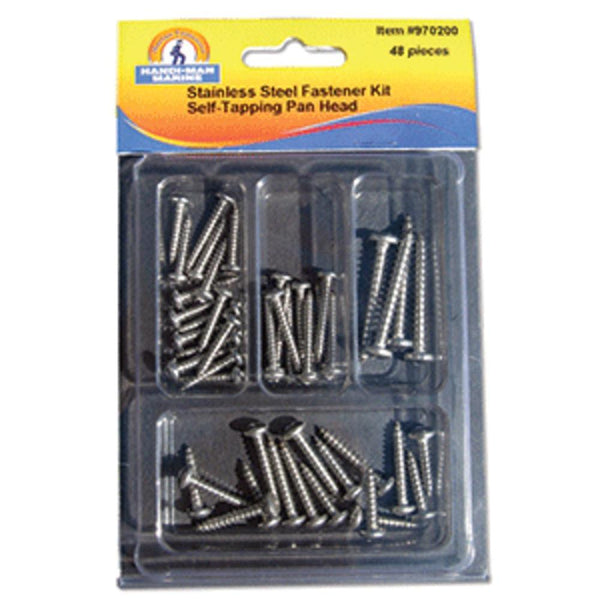 Handi-man Self Tapping Pan Head Screw Kit - 48 Pieces
