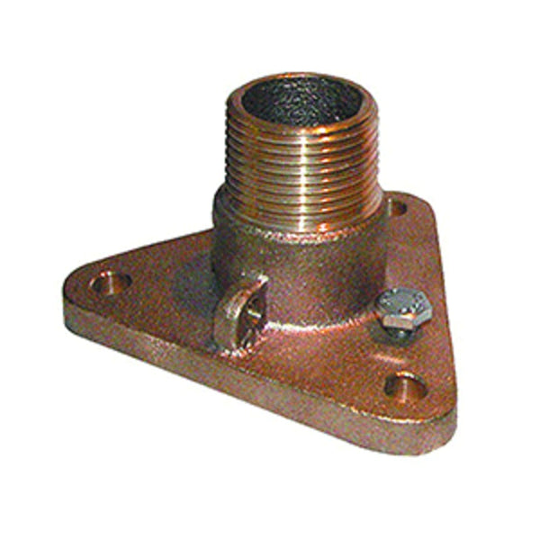 Groco 1-1-4 Bronze Nps To Npt Flange Adapter