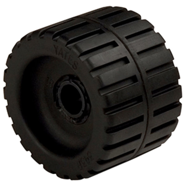 C.e. Smith Ribbed Wobble Roller 4-3-8 - 3-4id W-bushing Black
