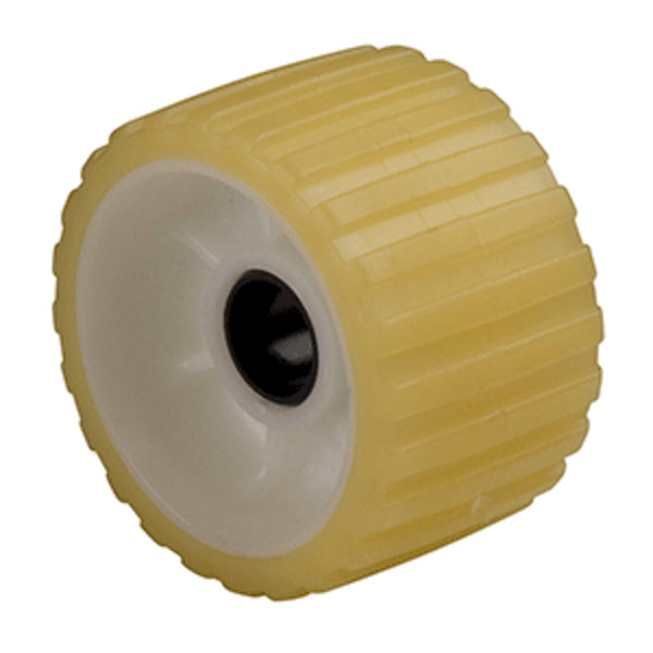 C.e. Smith Ribbed Roller 5 1-1-8:id Tpr W-bushing Black Delrin Gold