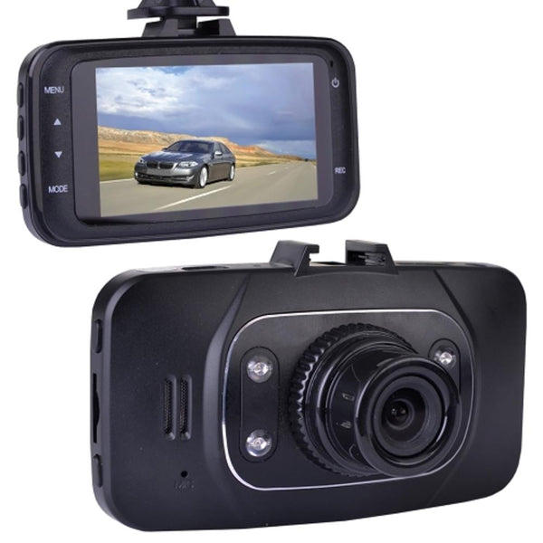 Automotive 1080p Hd Dash Cam With Night Vision, 2.7 Lcd Screen &windshield Mounting (records To Microsd Card)