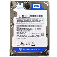 Western Digital Scorpio Blue 640gb Sata-300 5400rpm 8mb 2.5 Harddrive