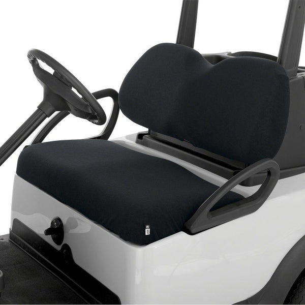 Classic Terry Cloth Golf Cart Seat Saver Black