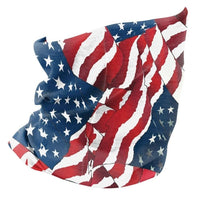 Zanheadgear Fleece Lined Motley Tube -wavy American Flag