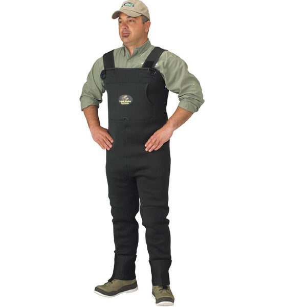 Caddis Mens Neoprene Stockingfoot Waders - Xlarge Green