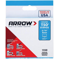 Arrow 50524 T50 Staples, 1,250 Pk (5-16)
