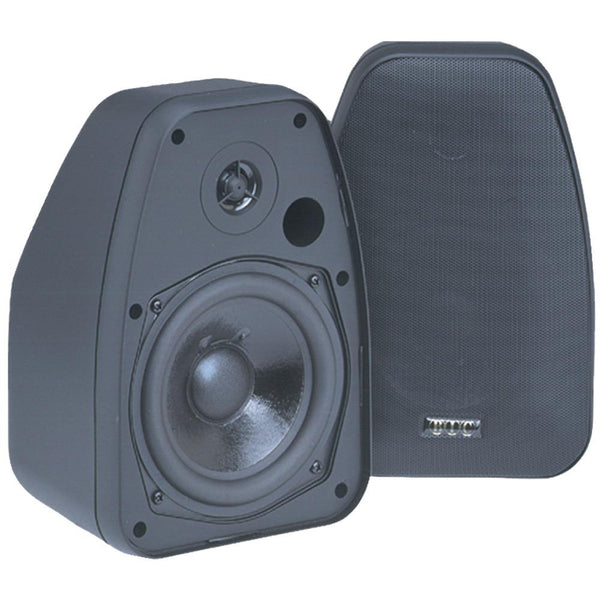 Bic America Adatto Dv52si 125-watt 2-way 5.25-inch Indoor-outdoor Speakers With Keyholes For Versatile Mounting (black)