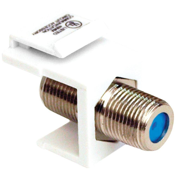 Datacomm Electronics 20-3202-wh Keystone Jack With 2.4ghz F-connector (white)