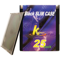 Khypermedia K-cdpssbk-25p Slim Jewel Cases, 25 Pk