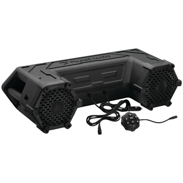Planet Audio Patv65 Powersports Series Waterproof All-terrain Sound System With Bluetooth & Led Light Bar (6.5, 450 Watts)