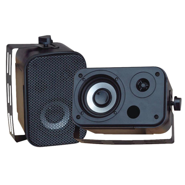 Pyle Pdwr30b 3.5 Indoor-outdoor Waterproof Speakers (black)