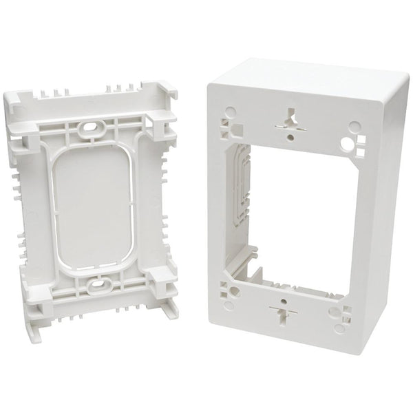 Tripp Lite N080-smb1-wh Single-gang Surface-mount Junction Box Wall Plate