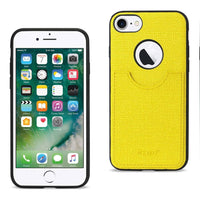 Reiko Iphone 8- 7 Anti-slip Texture Protector Cover With Card Slot In Yellow