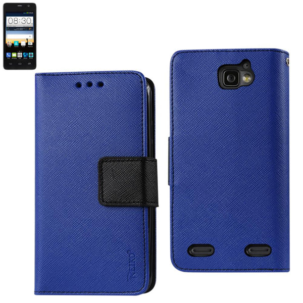 Reiko Zte Sonata 2 3-in-1 Wallet Case In Navy