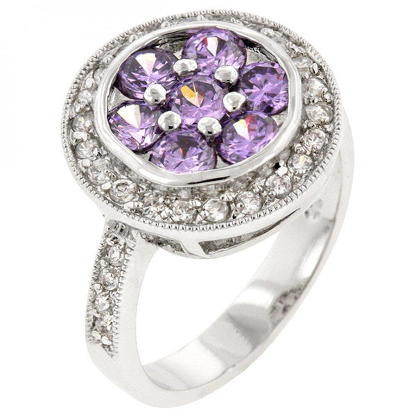 Lavender Lily Ring (size: 08) R08080r-c20-08