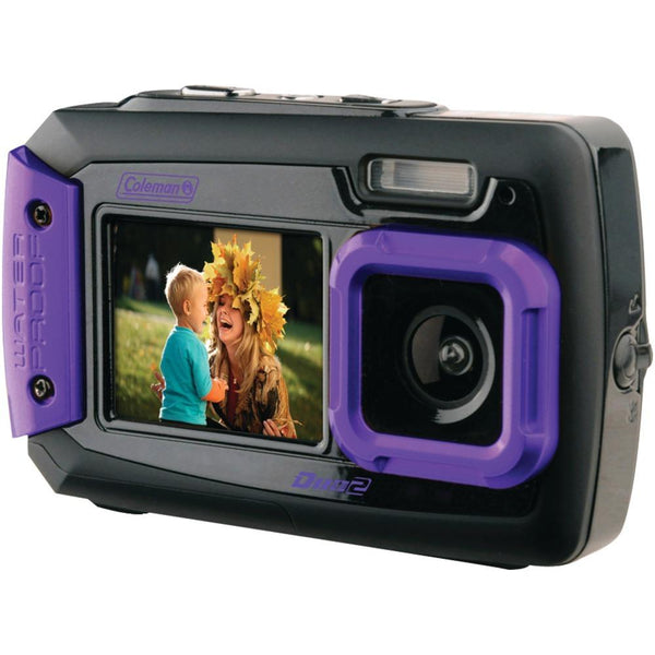 Coleman 20.0-megapixel Duo2 Dual-screen Waterproof Digital Camera (purple) Elb2v9wpp