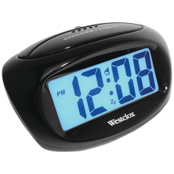 Westclox Large Easy-to-read Lcd Battery Alarm Clock Nyl70043x