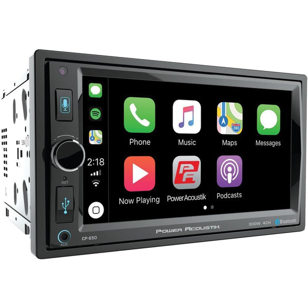 "Power Acoustik 6.5"" In-dash Double-din Digital Media Receiver With Bluetooth & Apple Carplay Powcp650"