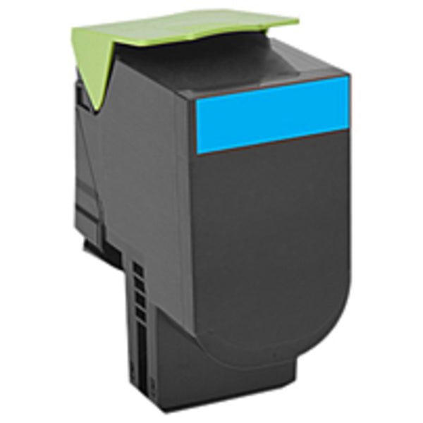 Lexmark Unison 800h2 Toner Cartridge - Cyan - Laser - High Yield - 3000 Pages