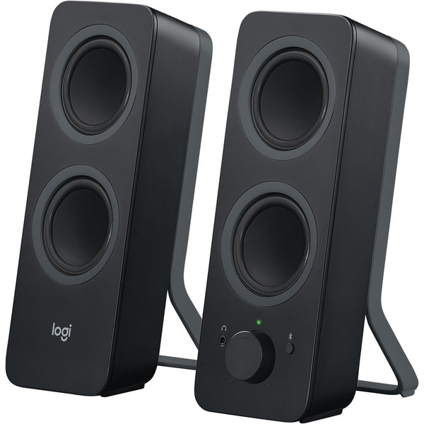Logitech Z207 Bluetooth Speaker System - 5 W Rms - Black - Bluetooth - Wireless Pairing, Passive Radiator