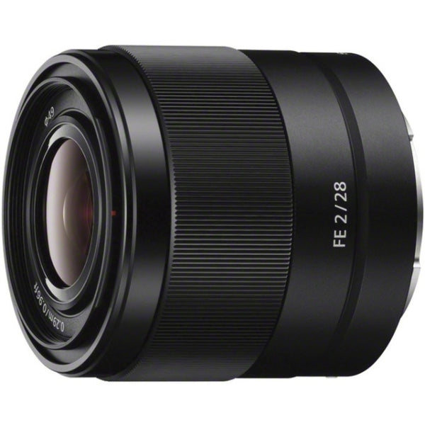 Sony - 28 Mm - F-2 - Fixed Focal Length Lens For Sony E - Designed For Camera - 49 Mm Attachment - 0.13x Magnification