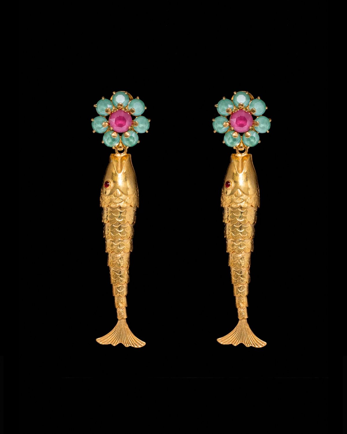 Pendientes sea treasures con flor