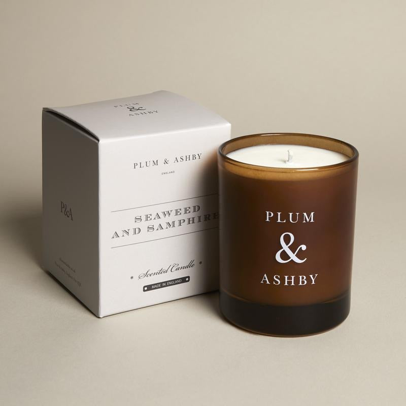 Plum & Ashby, seaweed & samphire scented candle.