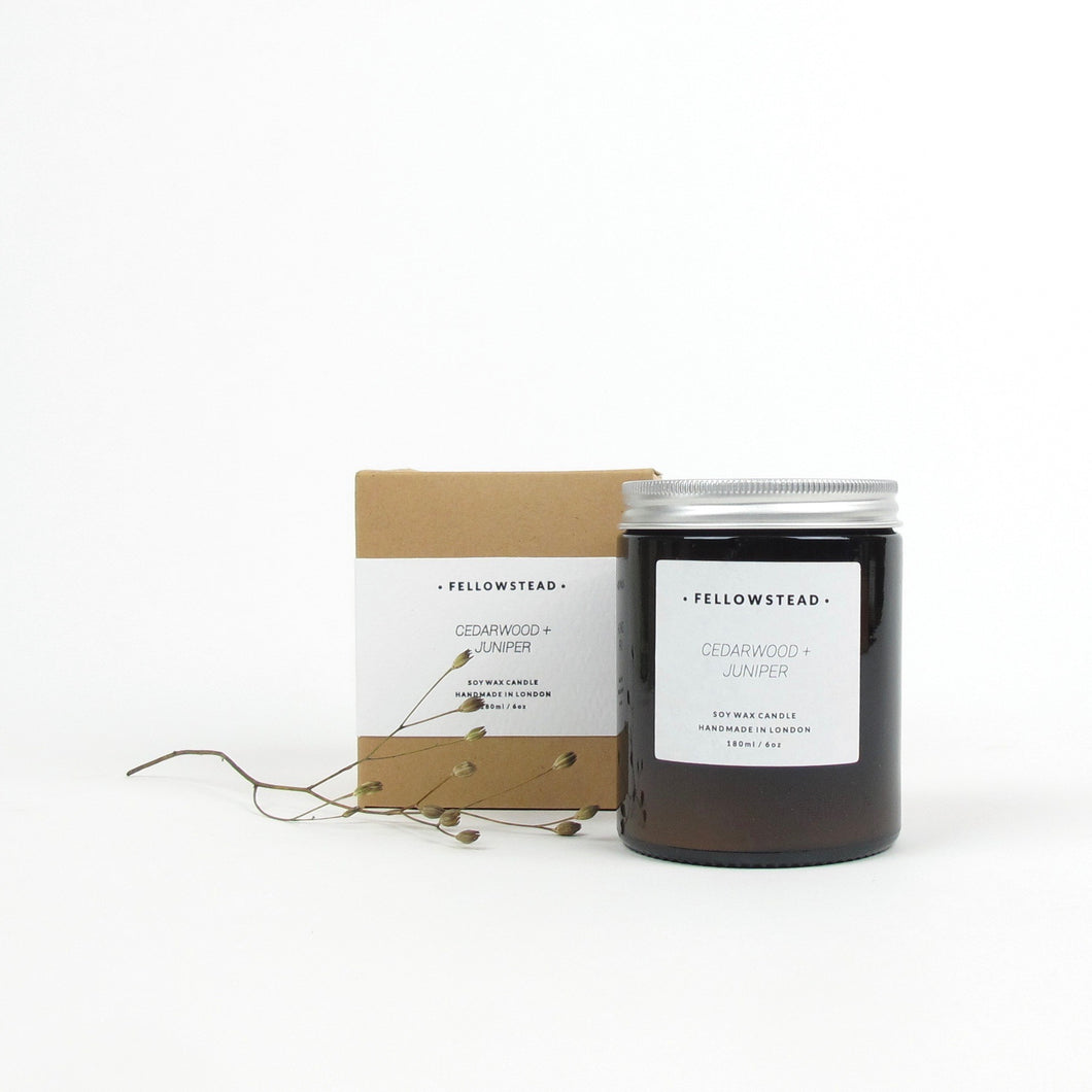 Fellowstead Cederwood + Juniper candle
