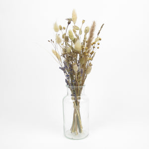 Small dried arrangement in vase