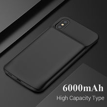 TORRAS Battery Charger Case For iPhone X Power Bank Battery 3600 6000mAh Backup External Battery For iPhone X Power Bank Case
