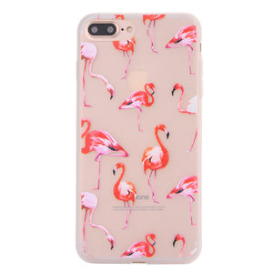 Fashion Flamingo Matte Soft Ultrathin TPU Case Phone Case Shell for iPhone 7 Plus