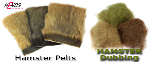 Hamster Dubbing Hamster Pelts for Fly Tying