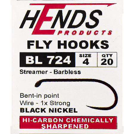 Hends BL 724 Streamer Barbless Hooks