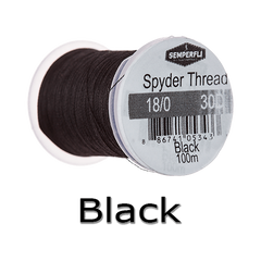 Semperfli Spyder Thread Black