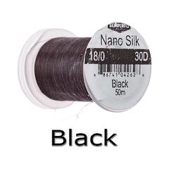 Semperfli Nano Silk 18/0 Black