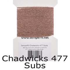 Semperfli Specialist Fly Tying Wools Chadwicks 477 Subs